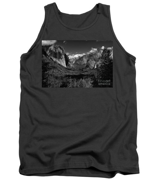 Tunnel View Black And White  Tank Top