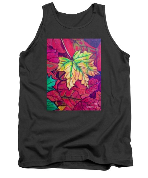 Turning Maple Leaf In The Fall Tank Top by Kimberlee Baxter