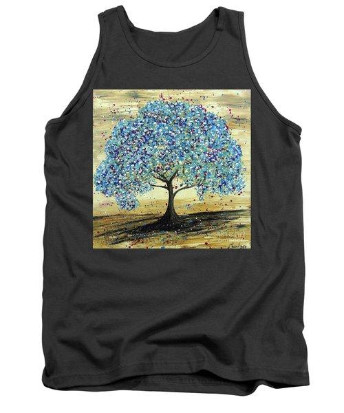 Turquoise Tree Tank Top