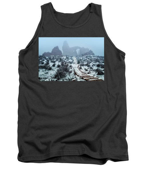 Turret Arch In The Fog Tank Top