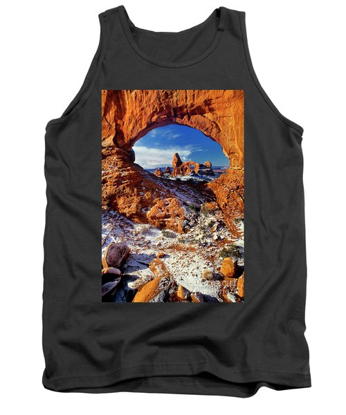 Turret Arch Through North Window Arches National Park Utah Tank Top