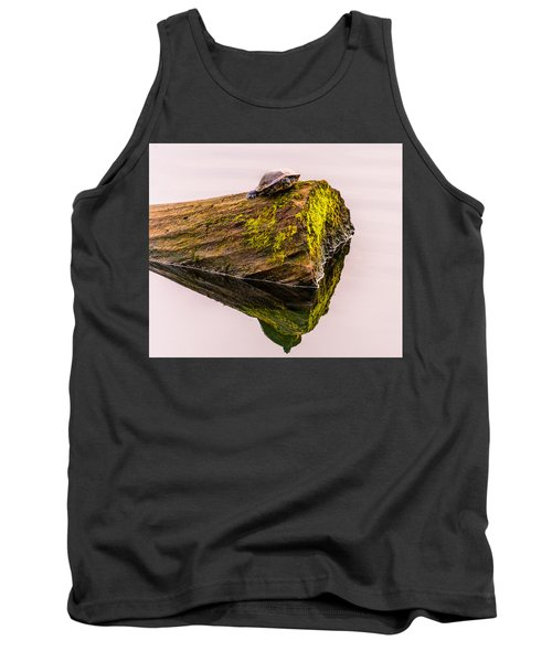 Tank Top featuring the photograph Turtle Basking by Jerry Cahill