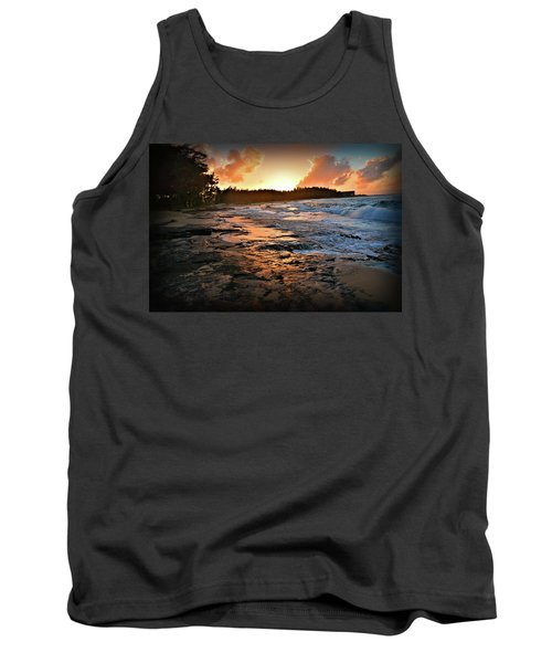 Turtle Bay Sunset 1 Tank Top