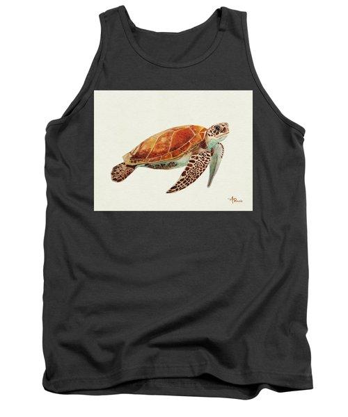 Turtle Watercolor Tank Top