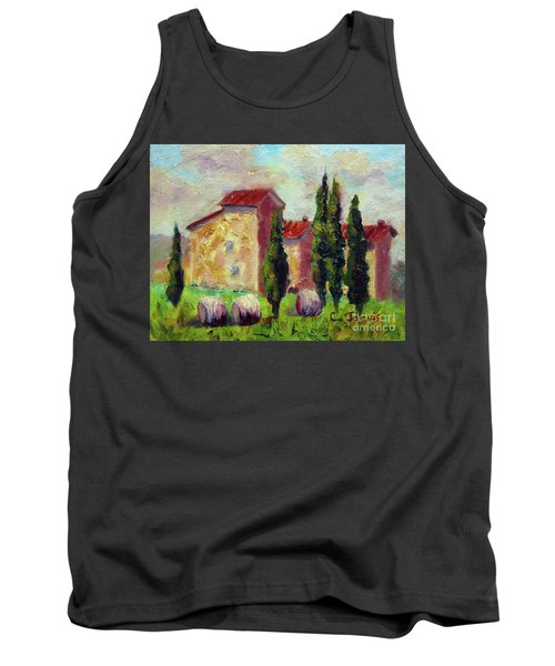 Tuscan House With Hay Tank Top