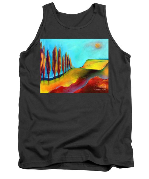 Tank Top featuring the painting Tuscan Sentinels by Elizabeth Fontaine-Barr