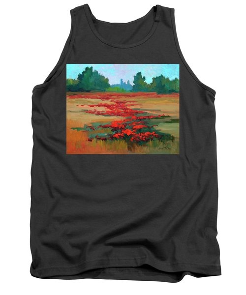 Tuscany Poppy Field Tank Top by Diane McClary