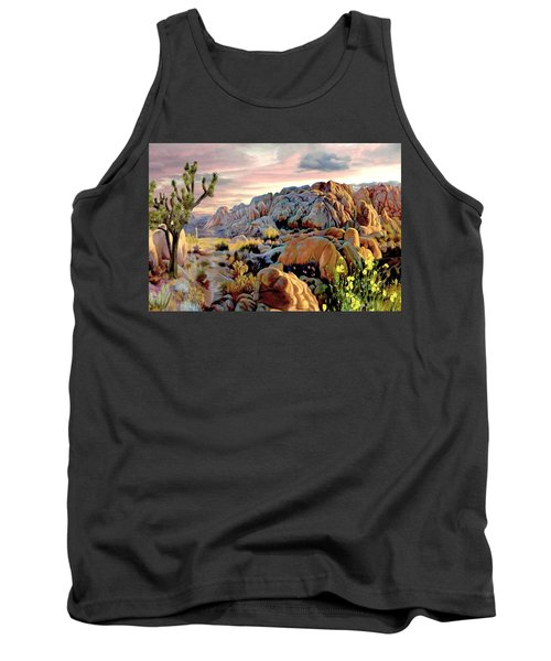 Twilight At Joshua Tank Top by Ron Chambers
