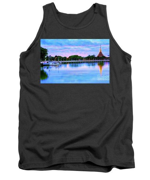 Twilight City Lake View Tank Top