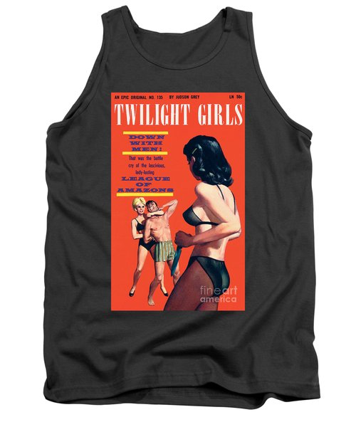 Tank Top featuring the painting Twilight Girls by Doug Weaver