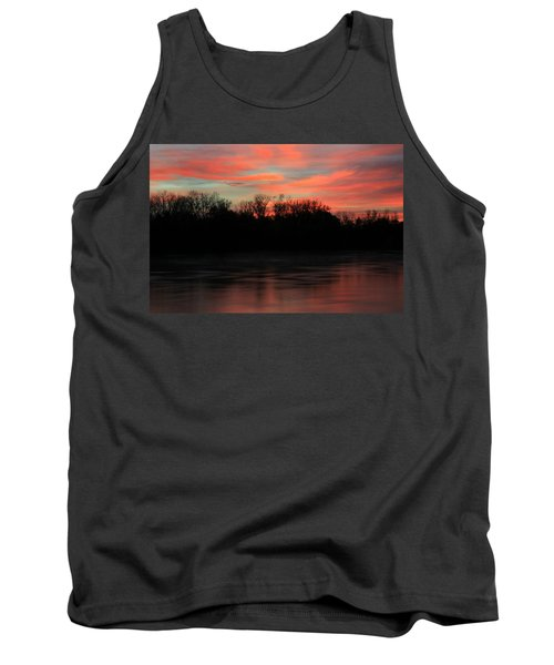 Tank Top featuring the photograph Twilight On The River by Chris Berry