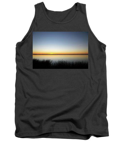 Twilight Stillness Down By The Beach Lagoon Tank Top