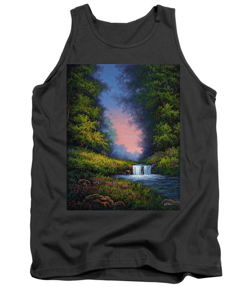 Tank Top featuring the painting Twilight Whisper by Kyle Wood