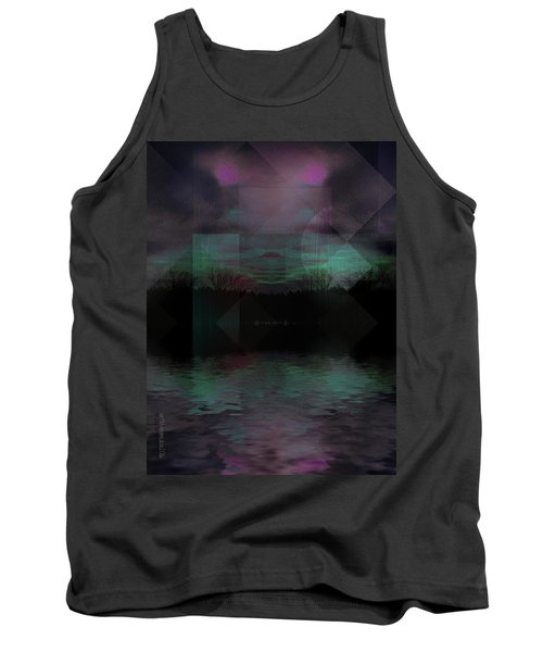 Tank Top featuring the digital art Twilight Zone by Mimulux patricia no No