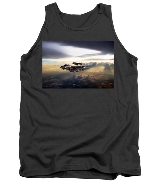 Tank Top featuring the digital art Twilight's Last Gleaming by Peter Chilelli