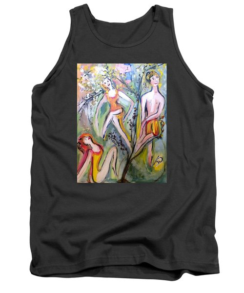 Twists And Turns Tank Top by Judith Desrosiers