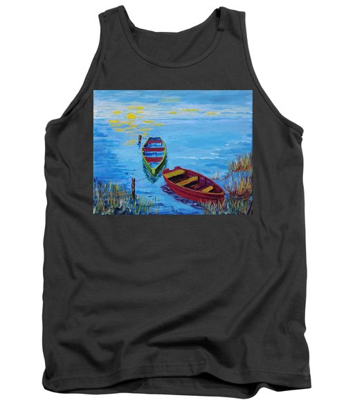 Two Boats Tank Top by Mike Caitham
