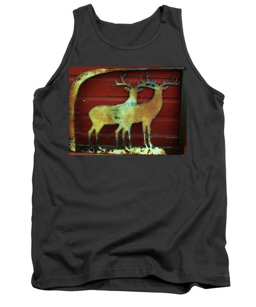 Two Bucks 1 Tank Top by Larry Campbell