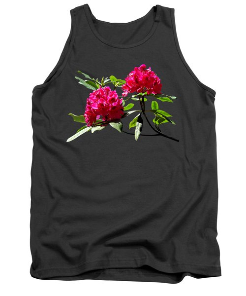 Two Dark Red Rhododendrons Tank Top