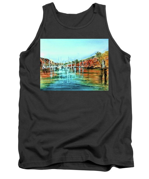 Two Harbors Catalina Morning Impressions Tank Top by Debbie Lewis