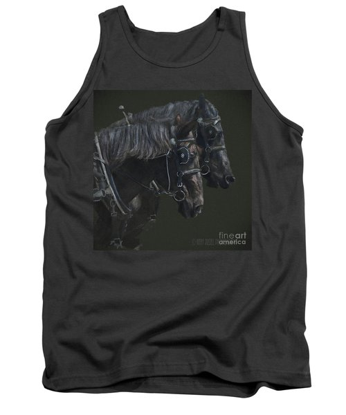 Two Percherons Tank Top