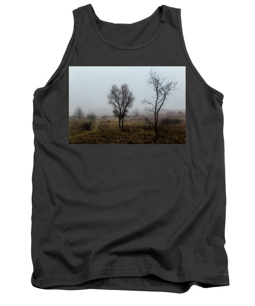 Two Trees In The Fog Tank Top