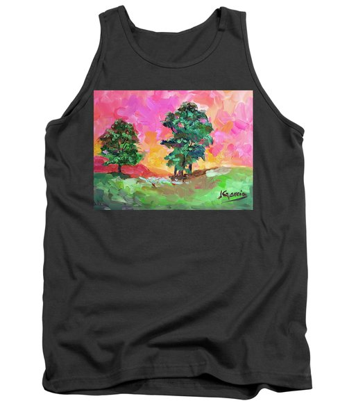 Two Trees Tank Top by Janet Garcia