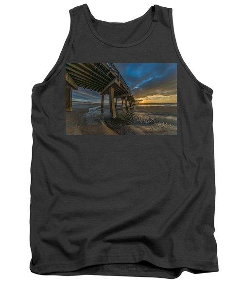 Tybee Island Beach Pier  Tank Top