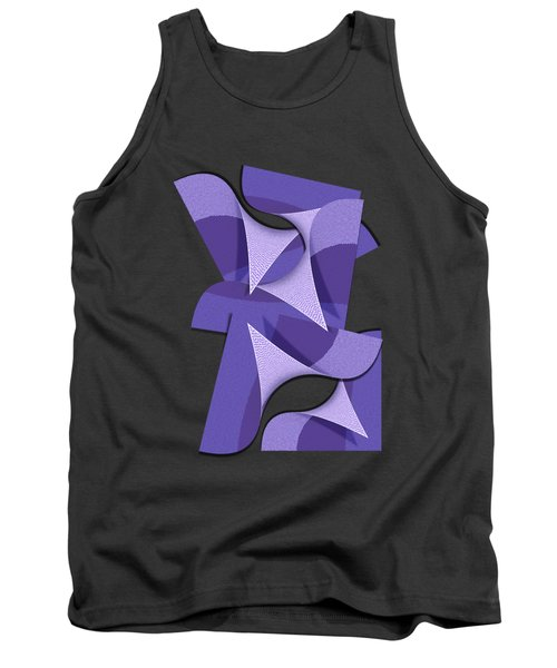 Ultra Violet Abstract Waves Tank Top