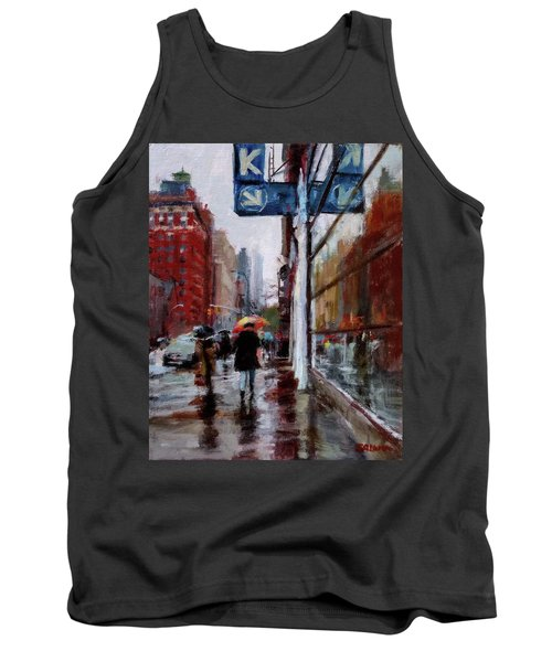 Umbrellas On Amsterdam Aveune Tank Top
