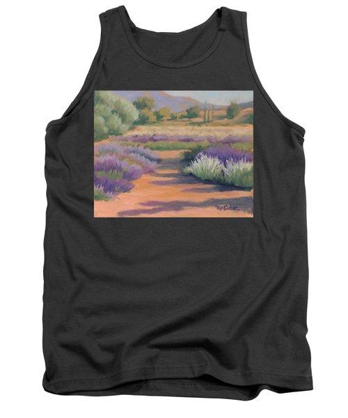 Under A Summer Sun In Lavender Fields Tank Top