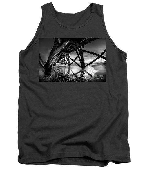 Under Sea Cabin Pier At Sunset Tank Top