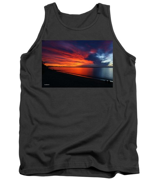 Tank Top featuring the photograph Under The Blood Red Sky by Gary Crockett