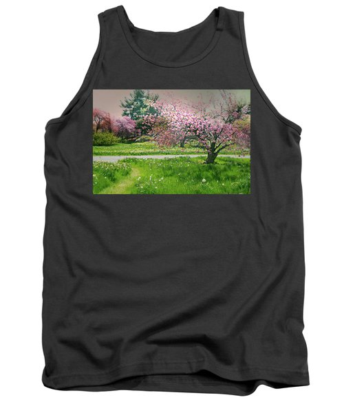 Tank Top featuring the photograph Under The Cherry Tree by Diana Angstadt