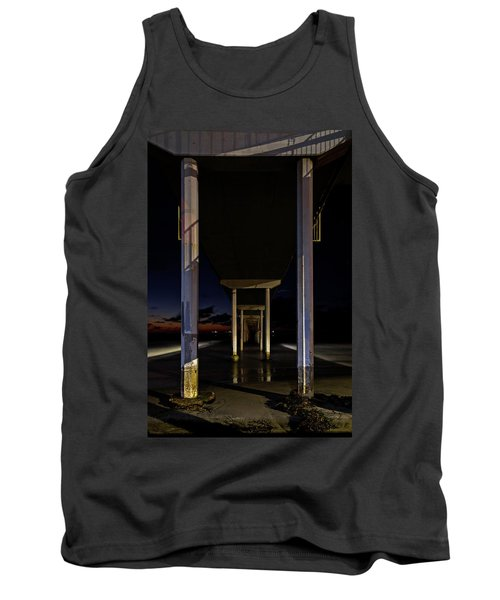 Under The Ocean Beach Pier At Sunste Tank Top