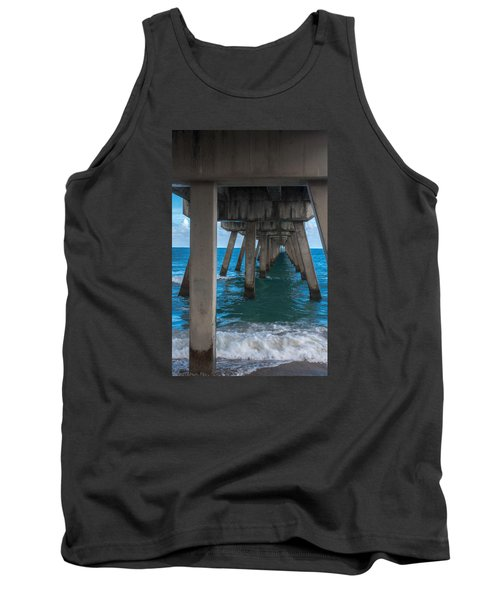 Tank Top featuring the photograph Under The Pier by Arlene Carmel