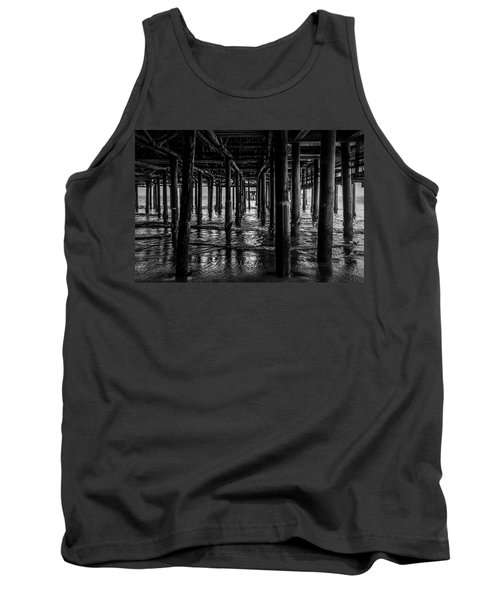 Under The Pier - Black And White Tank Top