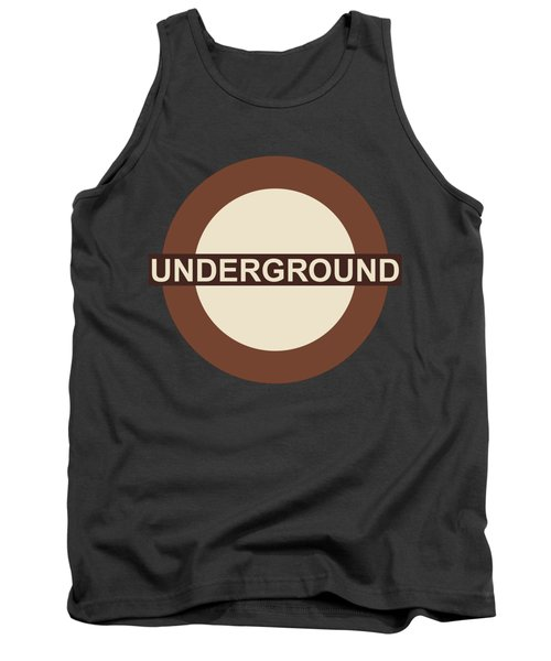 Tank Top featuring the digital art Underground75 by Saad Hasnain
