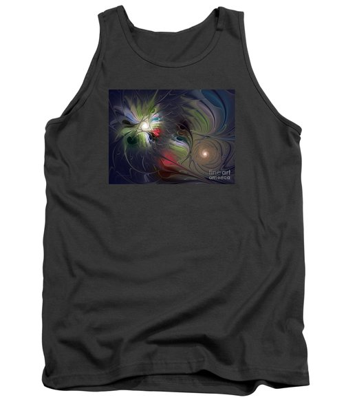 Tank Top featuring the digital art Unfading by Karin Kuhlmann