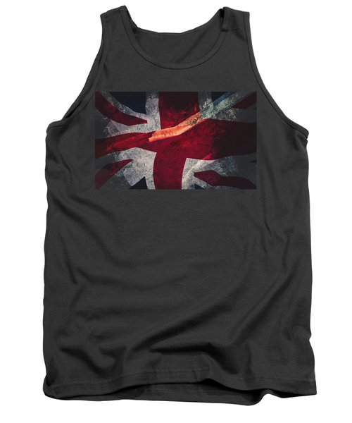 Union Jack Fine Art, Abstract Vision Of Great Britain Flag Tank Top