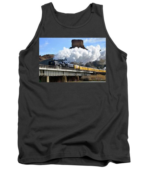 Union Pacific Steam Engine 844 And Castle Rock Tank Top