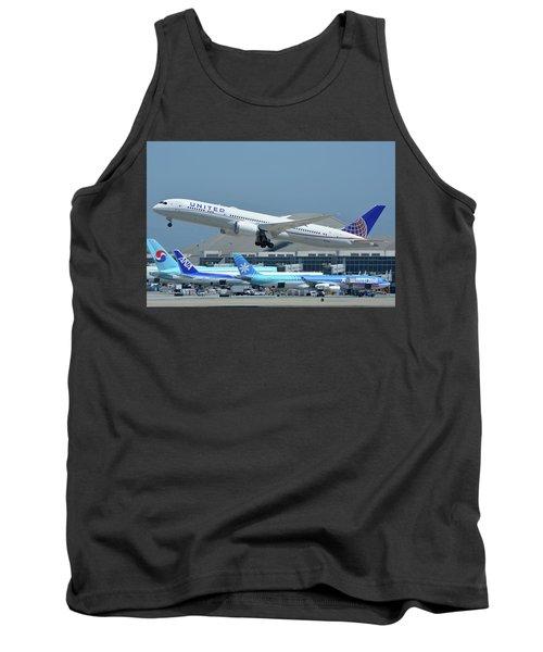 United Boeing 787-9 N27965 Los Angeles International Airport May 3 2016 Tank Top