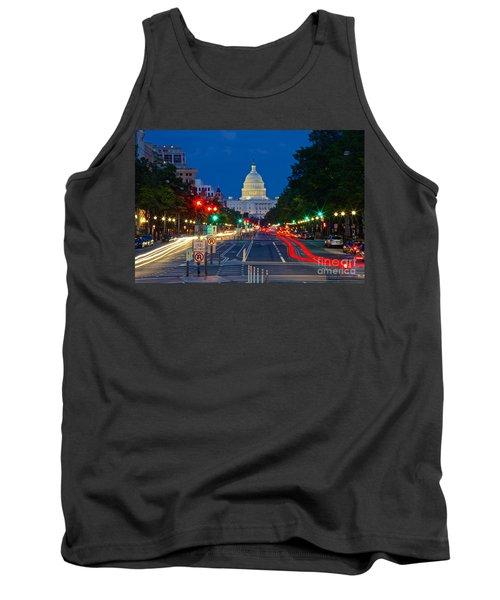 United States Capitol Along Pennsylvania Avenue In Washington, D.c.   Tank Top