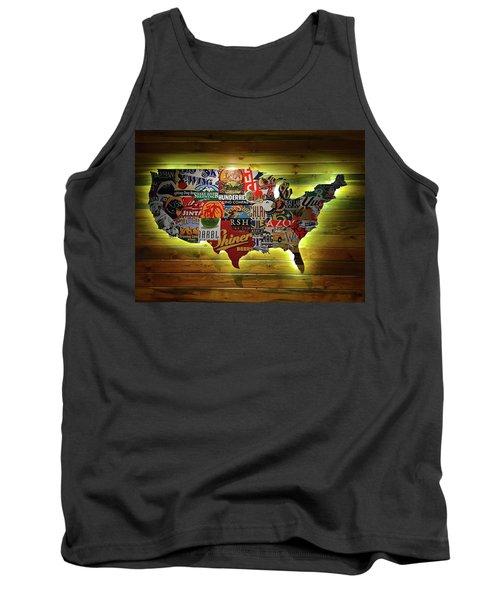 United States Wall Art Tank Top