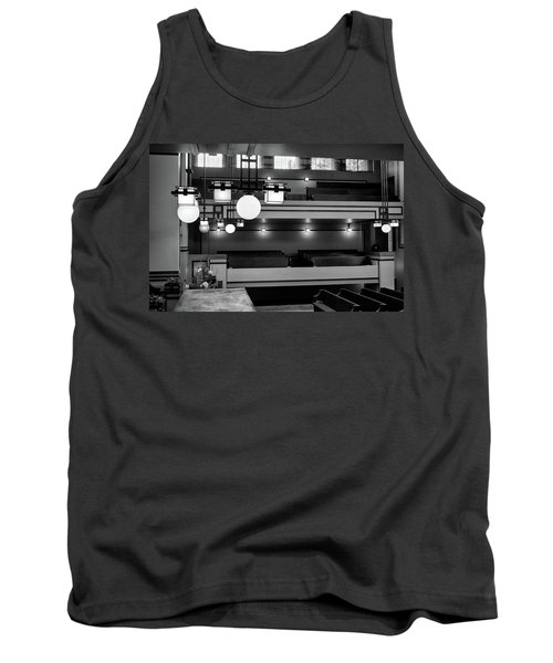 Unity Temple Interior Black And White Tank Top