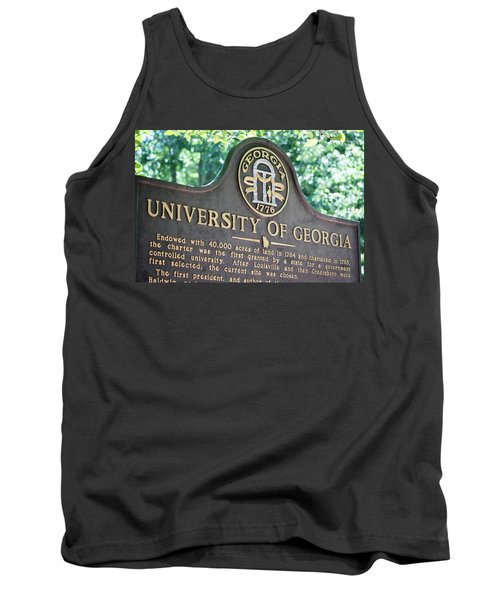 Tank Top featuring the photograph University Of Georgia Sign by Parker Cunningham
