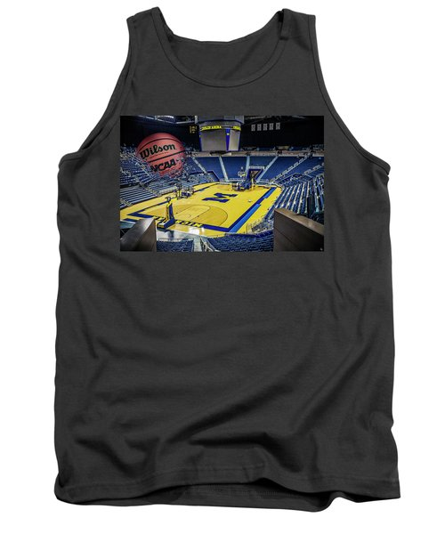 Tank Top featuring the digital art University Of Michigan Basketball by Nicholas Grunas