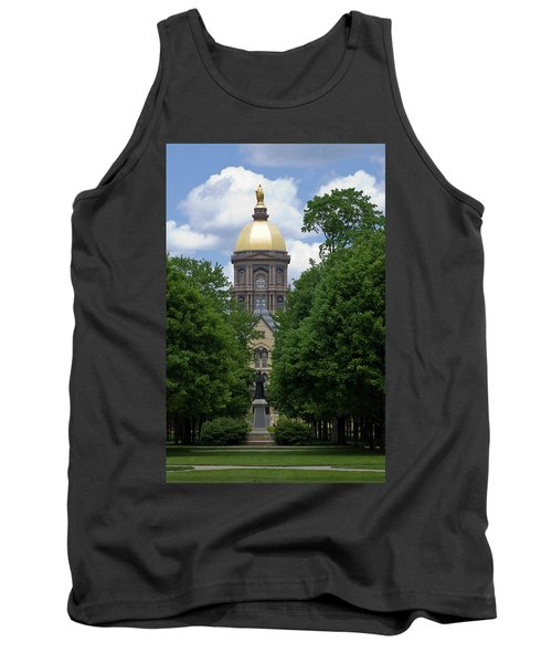University Of Notre Dame Golden Dome Tank Top by Sally Weigand
