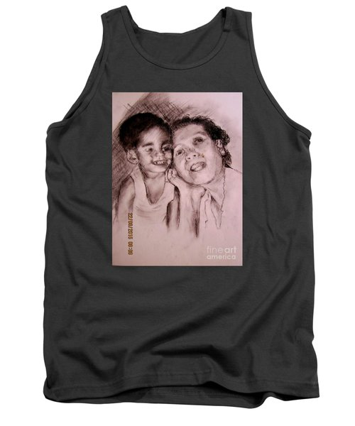 Tank Top featuring the drawing Unlimited Love 2 by Jason Sentuf