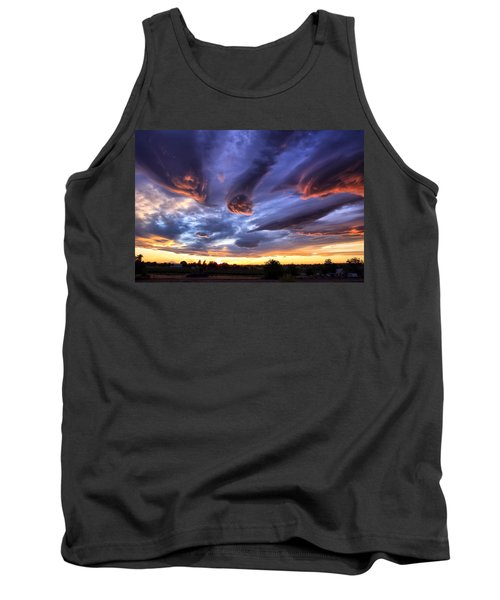 Alien Cloud Formations Tank Top by Lynn Hopwood